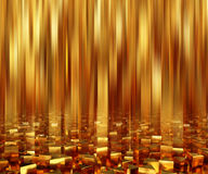 Abstract background triangle gold bars. 3d illustration Royalty Free Stock Images