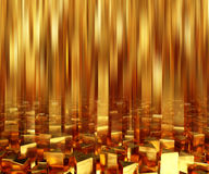 Abstract background triangle gold bars. 3d illustration Royalty Free Stock Image