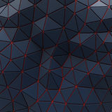Abstract background of triangle polygons background. Blue. 4d rendering royalty free illustration