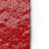 Abstract background of triangle polygons background. Red. 3D rendering Stock Images