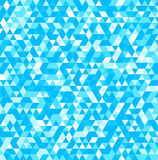 Abstract background of triangles in blue colors. Vector illustration Royalty Free Stock Photos