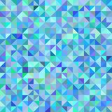 Abstract background of triangles blue green scale. Neutral abstract geometric background triangles blue green scale. Dotted seamless repeating pattern, vector Stock Photo