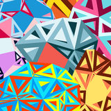 Abstract background of triangles Royalty Free Stock Photo