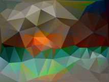 Abstract background triangles vector illustration