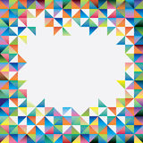 Abstract background of triangles. Of different colors stock illustration