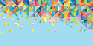 Abstract background of triangles. Of different colors vector illustration