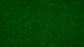 Abstract background of triangles. In green colors Stock Image