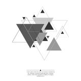 Abstract background with triangles. Abstract background with hipster triangles. Triangle pattern background. For cover book, brochure, flyer, poster, magazine stock illustration