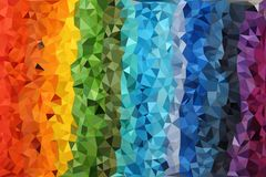Abstract background of triangles Stock Photo