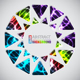 Abstract background with triangles and plasma background Royalty Free Stock Images