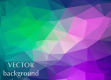 Abstract background of triangles polygon wallpaper. Web design b. Right colors Royalty Free Stock Photography