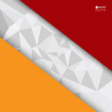 Abstract background with triangles and polygonal. With pieces of red and orange paper. for message board,template for web, brochures, presentations Royalty Free Stock Photos