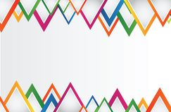 Abstract background with  triangles and space for your message Stock Photography