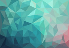 Abstract background with triangles. Texture with pink and blue triangles Royalty Free Stock Images