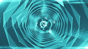 Abstract background with triangles tunnel. Seamless loop stock video footage