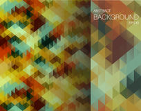 Abstract background with triangles. Vector illustration Stock Image