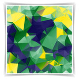 Abstract background with triangular polygons in Brazil. Abstract geometric background with triangular polygons in Brazil flag concept vector illustration