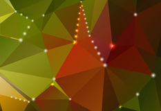Abstract background with triangular shapes and shiny circles. Abstract horizontal background with triangular gradient shapes and shiny circles stock illustration