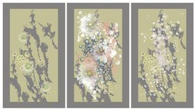 Abstract background, triptych Royalty Free Stock Photo