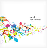 Abstract background with tunes. royalty free illustration