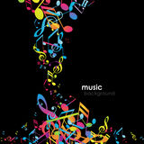 Abstract background with tunes. Vector art Royalty Free Stock Images