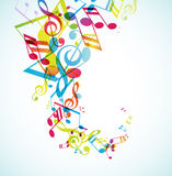 Abstract background with tunes. Vector art Royalty Free Stock Photo