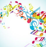 Abstract background with tunes. Vector art Stock Images