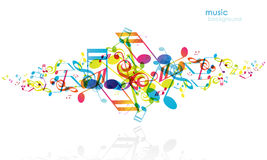 Abstract background with tunes. Vector art Royalty Free Stock Photos