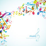 Abstract background with tunes. Royalty Free Stock Photography