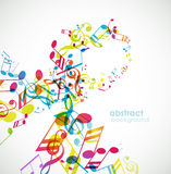 Abstract background with tunes. Stock Images