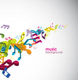 Abstract background with tunes. Vector art Royalty Free Stock Image