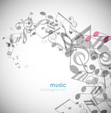 Abstract background with tunes. Vector art Stock Photography