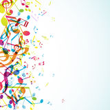 Abstract background with  tunes. Abstract background with colorful tunes. Vector art Royalty Free Stock Photos