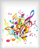 Abstract background with tunes. Vector art Stock Photos