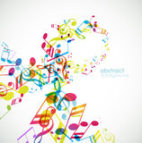 Abstract background with tunes. Vector art Royalty Free Stock Photography