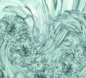 Abstract background of  a turquoise clove. Floral background with turquoise flowers of carnations. Stock Photo