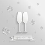 Abstract Background with Two Glasses of Champagne Stock Image