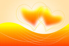 Abstract background with  two hearts Stock Image