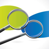 Abstract  background with two magnifiers Stock Image