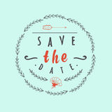 Abstract Background with typographical quote Save. The date, vector design. Eps 10 Vector Illustration