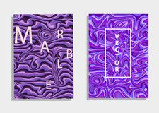 Abstract background ultra violet.Marble texture covers set. Colorful artistic backgrounds. Trendy design. stock illustration