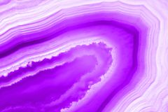 Abstract background, ultra violet pruple agate mineral. Cross section Royalty Free Stock Photos