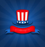 Abstract Background with Uncle Sam's Hat Stock Image