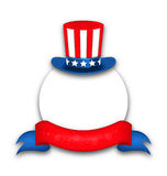 Abstract Background with Uncle Sam`s Hat for National Holidays o. Illustration Abstract Background with Uncle Sam`s Hat and Rybbon for National Holidays of USA stock illustration