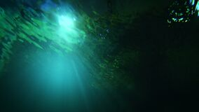 Abstract background under green water with light dark and grain processed.  stock video footage