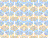 Abstract background. Undulating curves are intertwined. Simple and easy pattern. Royalty Free Stock Image