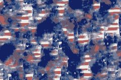 Abstract background with the usa flag colors and patterns vector illustration