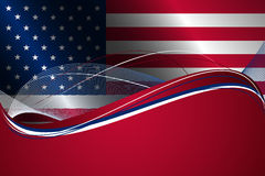 Abstract background with USA flag Stock Photography