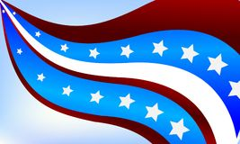 Abstract background of the USA flag. Vector art illustration Royalty Free Stock Photography