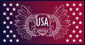 Abstract background USA patriotic design Royalty Free Stock Photo